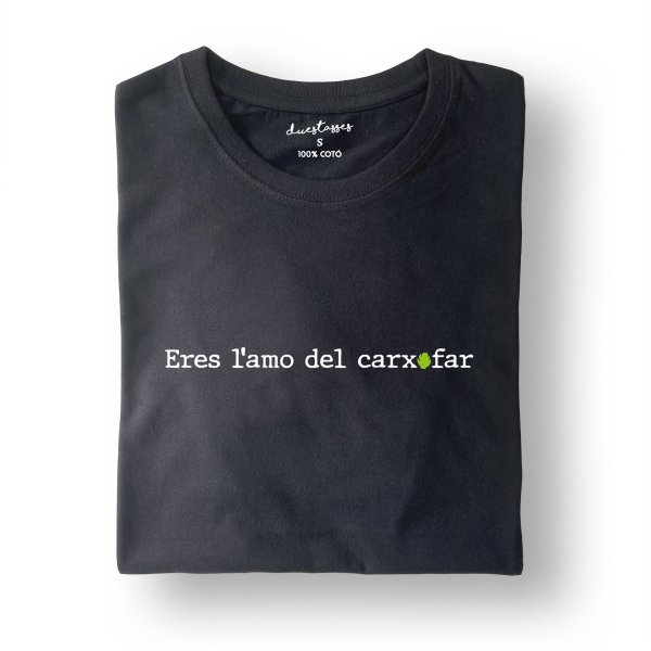 camiseta negra eres l'amo del carxofar