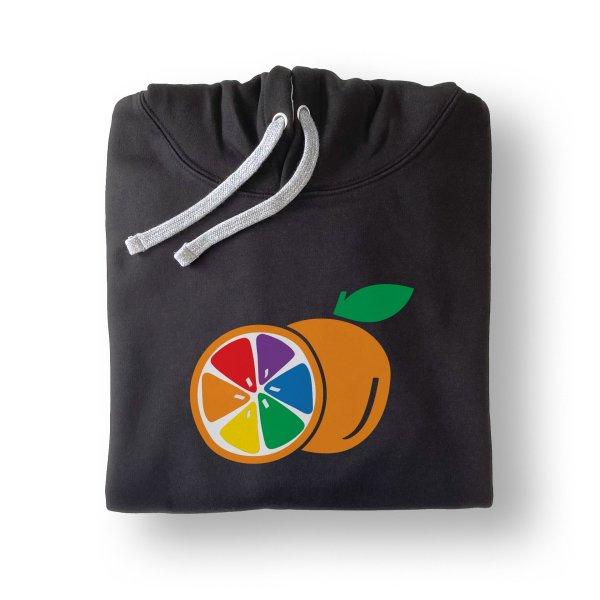 sudadera negra mitja taronja