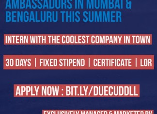 Campus Ambassador Internship At Cuddll - Only For Mumbai & Bengaluru Students