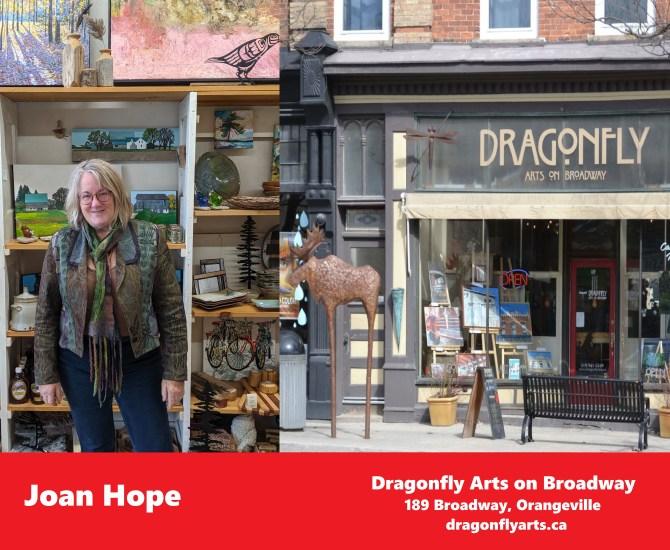 Joan Hope of Dragonfly Arts on Broadway on Dufferin's Spotlight on Business