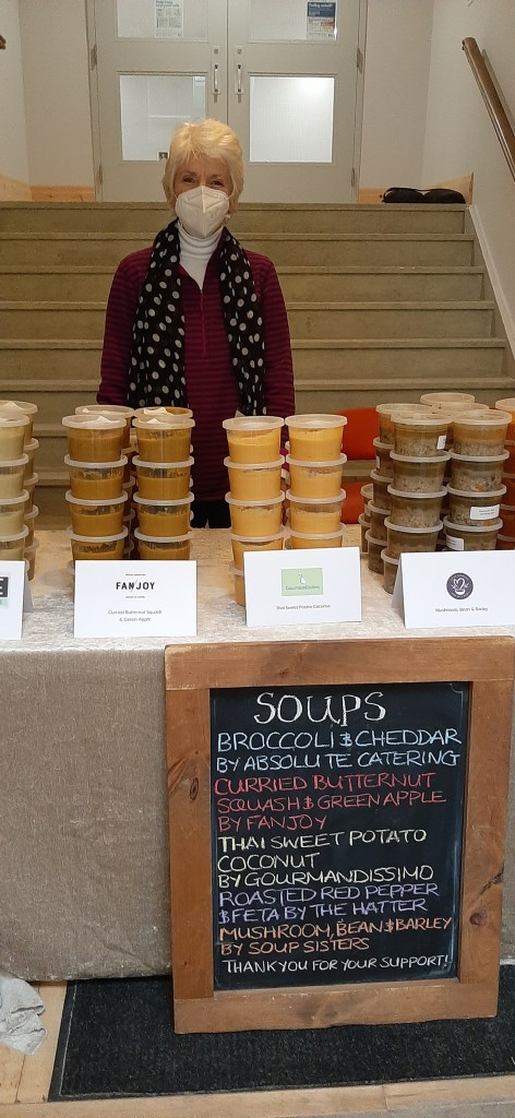 Soup from local businesses for Empty Bowls!