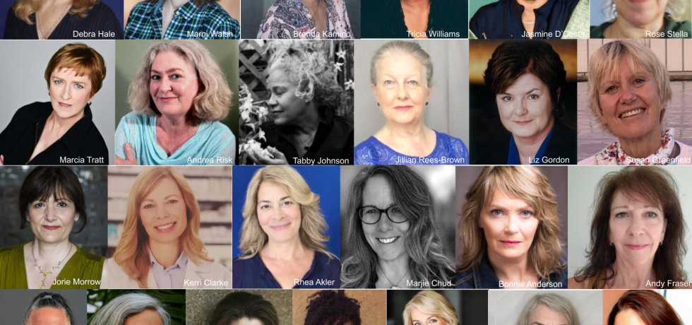 A collage photo of the 25 Women in the Act Three Theatre collective