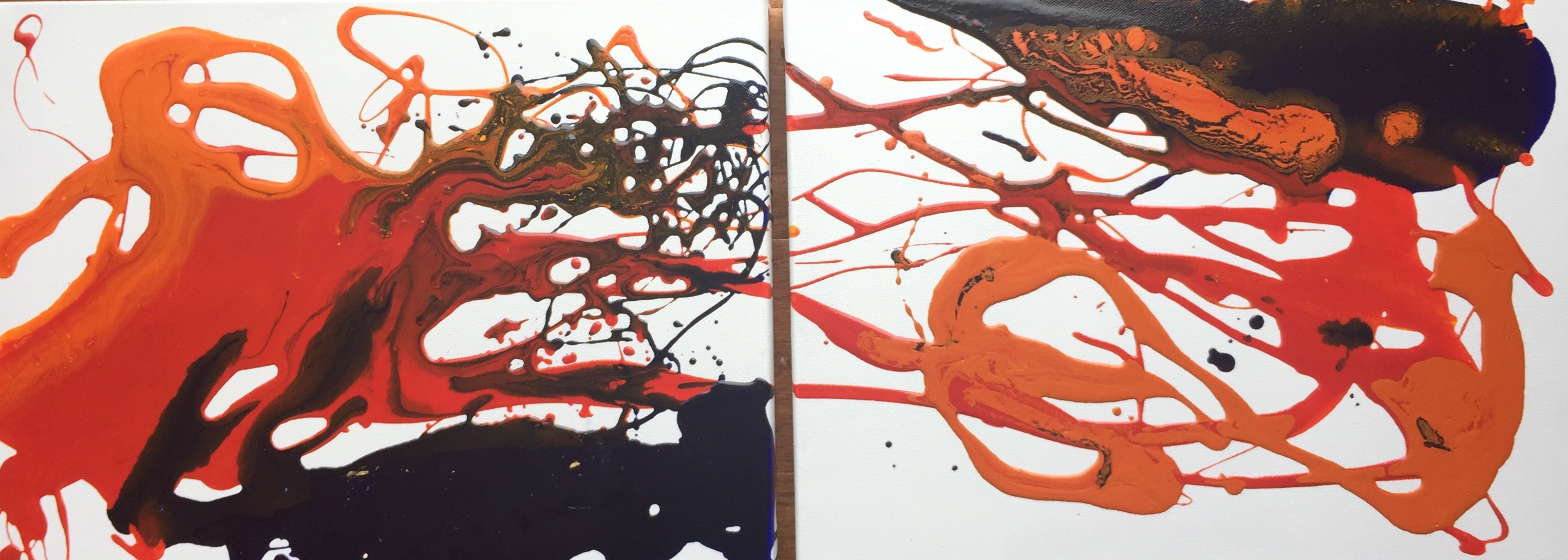 Colours of Grace 1 and 2 by Christine Long - 12 x 16 inches on canvas