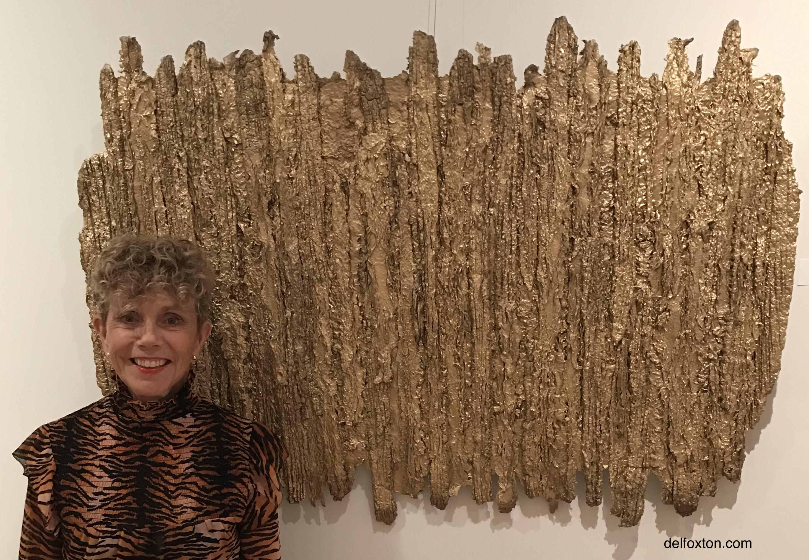Del Foxton standing next to large piece
