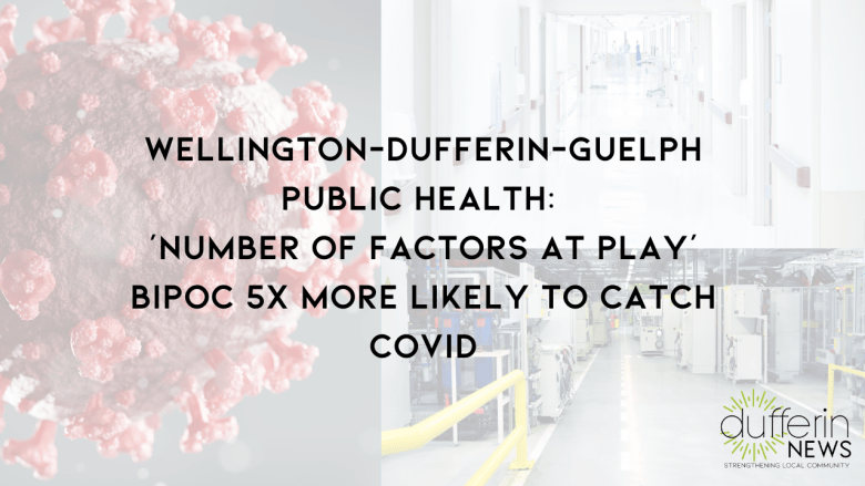 Wellington-Dufferin Guelph Public Health (WDGPH): 'Number of factors at play' BIPOC 5x more likely to catch COVID