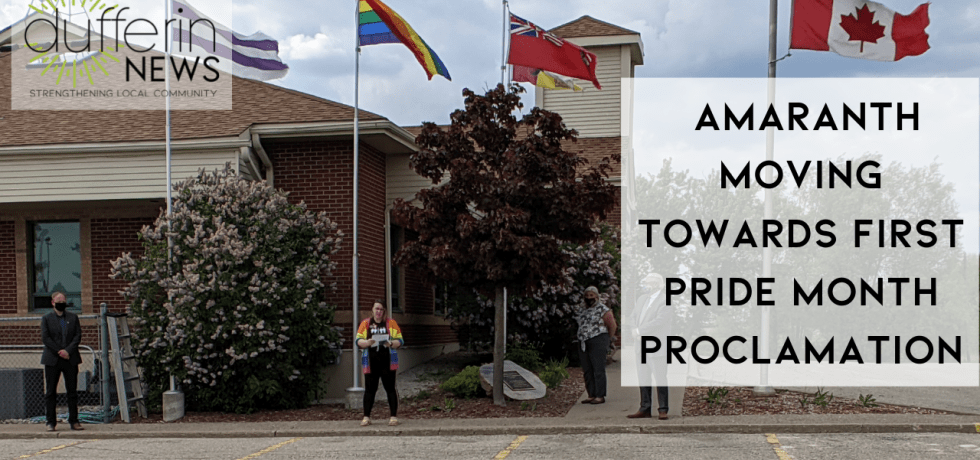 AMARANTH MOVING TOWARDS FIRST PRIDE MONTH PROCLAMATION