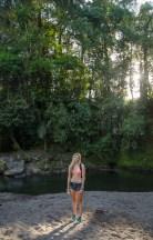 Morning river swim in Saraquipi, Costa Rica