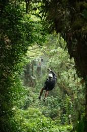 Ziplining in Monteverde Cloud Forest, Costa Rica