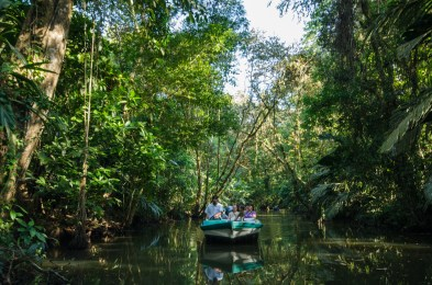 Cruising the canals of Tortuguero National Park