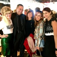 Lauren Lein (far left) a gentleman and lady I don't quite know, Alex Duffy of Duffy Dossier and Xochil Scheer at StyleChicago in October 2016
