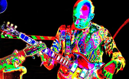 Jeff's amazing licks and psychedelic shirt