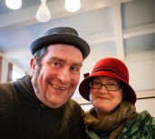Andy and Julie at the Filey Folk Festival - memories of a lovely weekend.