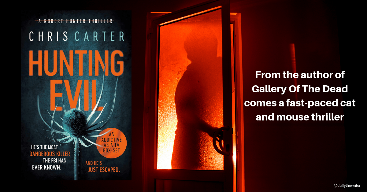 Hunting Evil is the next book in the best selling Hunter series by Chris Carter, author of Gallery Of The Dead
