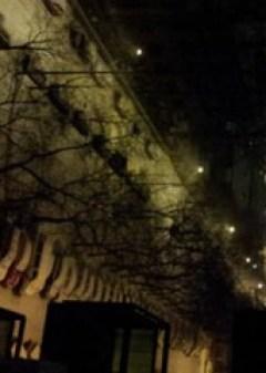 Hóesésben a XIII. kerület panel magasságból