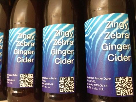 Zingy Zebra Ginger Cider
