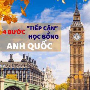 """4 bước """"tiếp cận"""" học bổng Anh quốc"""