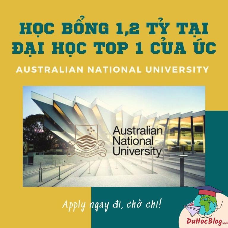 HỌC BỔNG 1,2 TỶ TẠI ĐẠI HỌC TOP 1 CỦA ÚC – AUSTRALIAN NATIONAL UNIVERSITY