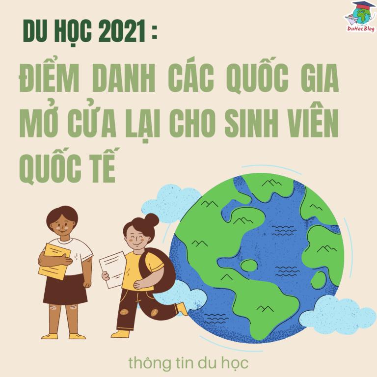 DU HỌC 2021: ĐIỂM DANH CÁC QUỐC GIA MỞ CỬA LẠI CHO SINH VIÊN QUỐC TẾ