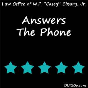 With Casey, you won't just be another client, you'll be his client. I highly recommend him to anyone facing criminal charges.