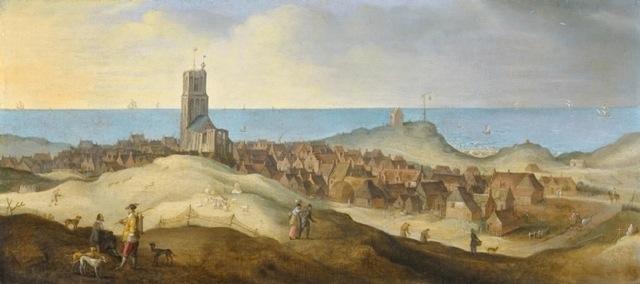 Claes Jacobsz van der Heck en medewerkers, Egmond aan Zee, 1635-1650, olieverf op paneel, 33 x 75 cm, Particuliere collectie.