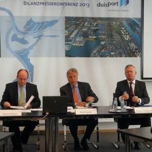 Bilanzpressekonferenz 2012 der duisport-Gruppe