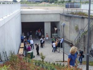Die neu gestaltete Gedenkstätte für die Opfer der Loveparade 2010 ist fertig: Püntlich kurz vor dem dritten Jahrestag. Foto: Petra Grünendahl.