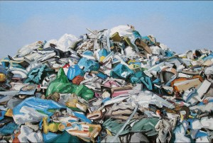 Ralph Fleck: Landschaft 29/V, 2008, Öl auf Leinwand, 200 x 300 cm, Privatsammlung © VG Bild-Kunst, Bonn 2015. Foto: Henning Krause.