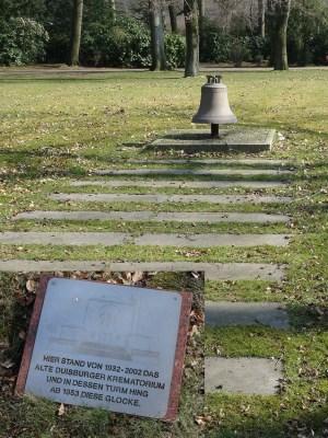 Hier stand das alte Krematorium: Die Gocke aus dem Turm erinnert daran. Foto: Petra Grünendahl, März 2015.
