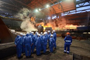 Die Lange Nacht der Industrie: hier ein Bild, das im Rahmen der Veranstaltung beim Duisburger Unternehmen DK Recycling und Roheisen GmbH in Duisburg-Hochfeld aufgenommen wurde. Foto: Ullrich Sorbe, Duisburg.