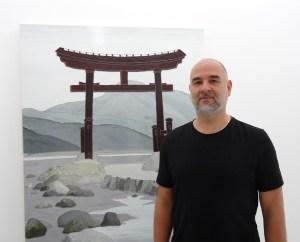 Shin Hanga - japanische Landschaften: Sven Drühl führt duch die Ausstellung im Museum DKM. Foto: Petra Grünendahl.