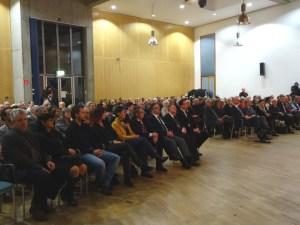 Preisverleihung des Duisburger Bündnisses für Toleranz und Zivilcourage im Gemeindesaal der Jüdischen Gemeinde im Innenhafen. Foto: Petra Grünendahl.
