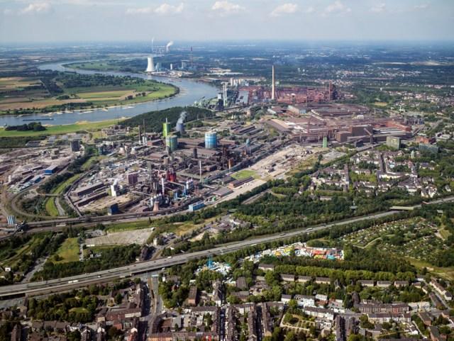 Thyssenkrupp Steel Europe: Das Betriebsgelände aus der Luft. Foto: TKSE.