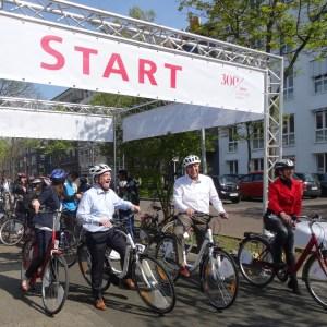 Eröffnung der Fahrradroute durch den Duisburger Hafen Copyright: Petra Grünendahl.