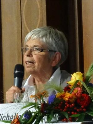 Alice Czyborra, geb. Gingold, erzählte von ihren Eltern, die sich der französchen Résistance angeschlossen hatten. Foto: Petra Grünendahl.