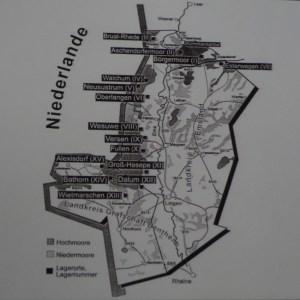 Die Lage der Emslandlager nahe der holländischen Grenze. Foto: Petra Grünendahl.