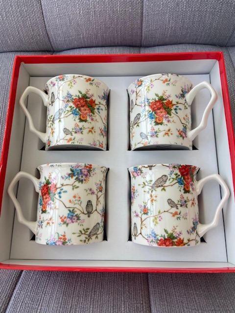 Set of 4 Shannonbridge Mug   Owly Fowly Design