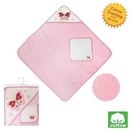Pink Hooded Baby Blanket