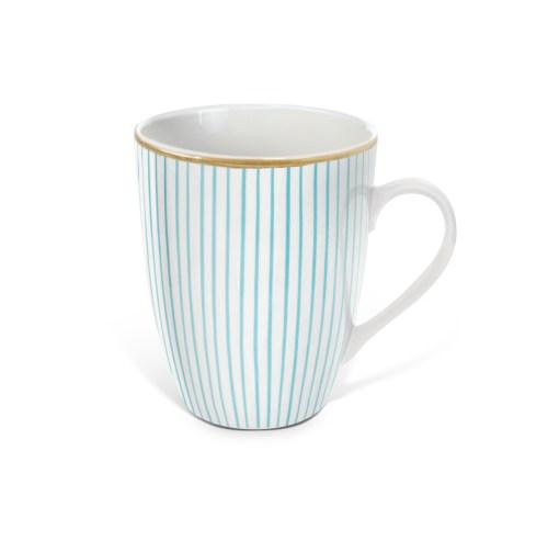 Pin Stripe Set of 6 Mugs