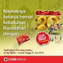 Cash Back CIMB NIaga Hypermart