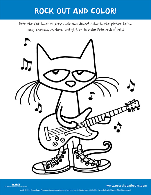 Rock Out And Color With Pete The Cat Pete The Cat