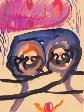เต้า (Bosom), 30 x 40, acrylic on canvas, 2017
