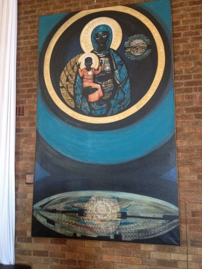 At the Regina Mundi church. Photo courtesy of Justin Bryant