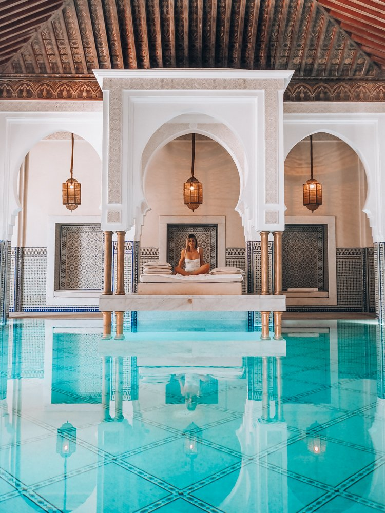 Poolside at La Mamounia - How to be Productive