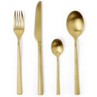 Emerton 16 Piece Cutlery Set, Gold