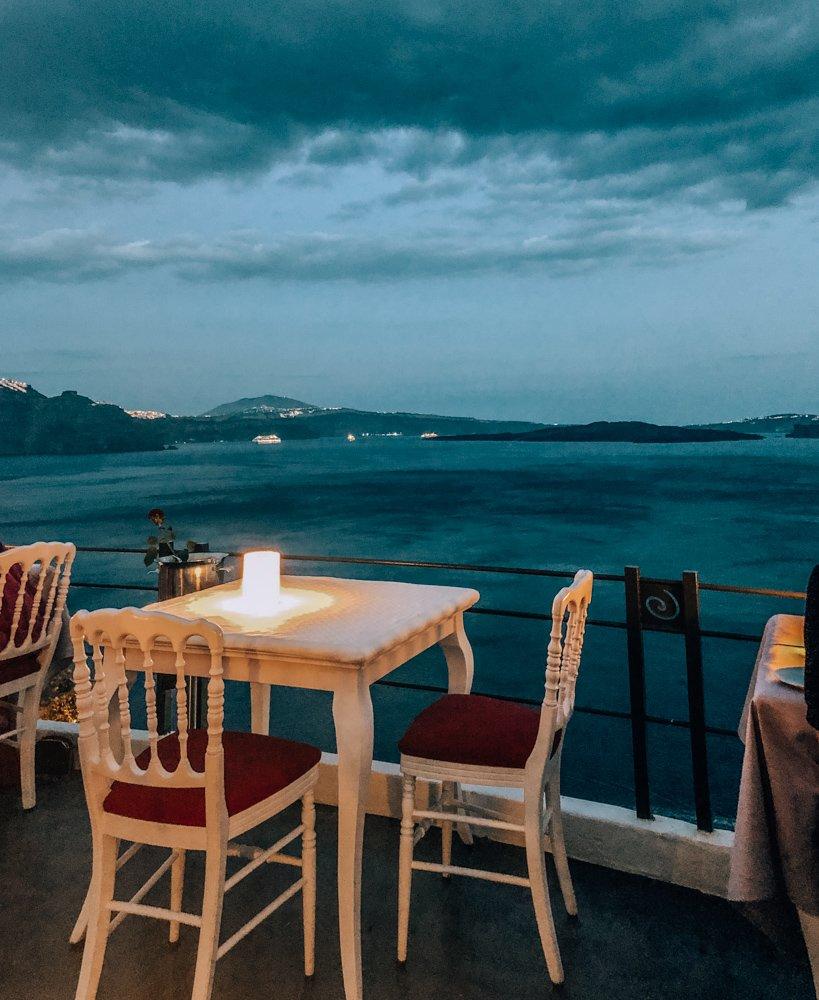 Dinner at Lauda in Oia Santorini