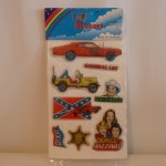 Dukes of Hazzard Puffy Stickers on generic card