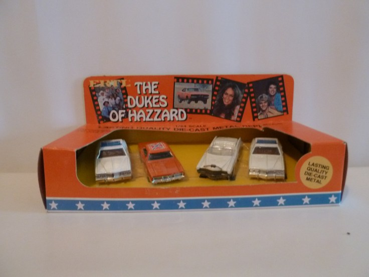Ertl 4 Car Set - Police, General, Caddy, Police