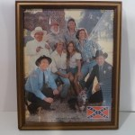 Dukes Cast Framed Picture (with flag)