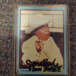 Autographed Boss Hogg Bubble Gum Card
