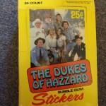 Dukes of Hazzard Bubble Gum Cards - Stickers Box